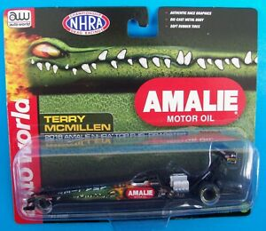 Terry McMillen 2018 Amalie Motor Oil Top Fuel Dragster Rail 1/64 NHRA Diecast