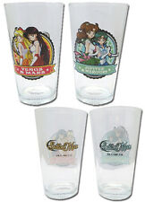 Sailor Moon Mars and Venus, Jupiter and Mercury Glass Cup Set NEW