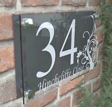 Clear Acrylic House Sign Modern Decorative Door Number Name Plaques Dec4-13WA