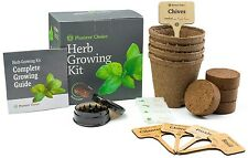 Planters' Choice Herb Growing Kit - Grow Basil, Parsley, Chives & Cilantro