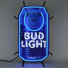 Neon sign Bud Light Can Licensed by Budweiser Nfl Beer wall lamp light lite