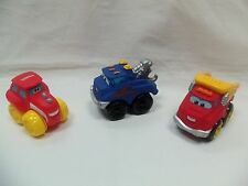Lot of 3 Large Size Chuck and Friends Trucks: Chuck, Tractor & Tow Truck