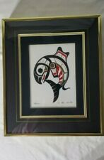 Ben Houstie - Heitlsuk Nation - Northwest Pacific Salmon Tile Framed Artwork