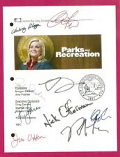 PARKS AND RECREATION PRACTICE DATE SIGNED SCRIPT RPT AMY POEHLER  NICK OFFERMAN