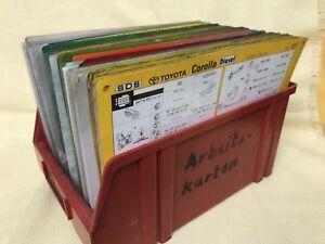 536 stück TOYOTA Datenblätter Arbeitsblätter,Inspektionsblätter,Arbeitskarten