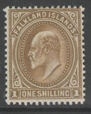 FALKLAND ISLANDS SG48 1904 1/= BROWN MTD MINT