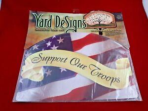 Yard DeSigns Magnetic Yard Art Sign USA SUPPORT FLAG