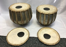 More details for set of two indian tabla drums + head cover and case