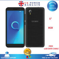 "ALCATEL 1 ONE 5033X 8GB 4G BLACK 8GB 5"" UNLOCKED Android Smartphone"