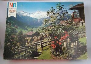 NEW SEALED Vintage 1977 Milton Bradley Magnum 2028 Piece Puzzle Alpine Splendor