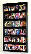 36 Sport Trading Cards Card Display Case Cabinet Holder Wall Rack 98% UV- Locks