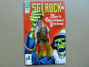 "Sgt. Rock Special # 21 ""War's Christmas Present""1992 Joe Kubert Our Army at War"