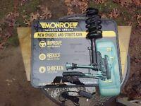 Monroe Shocks Lighted Sign Car Repair Garage Mancave Bar Beer Gas Automobile