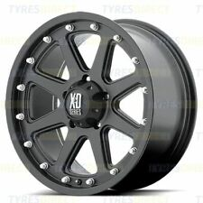 """SET OF FOUR 17"""" KMC XD SERIES ADDICT BLACK NP300 ALLOY WHEELS - SPECIAL OFFER"""