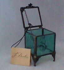 Windsor Blue English Muffle Glass Jewelry Box