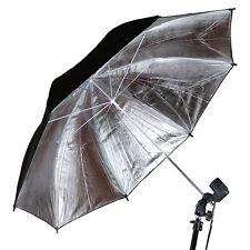 33 Inch Photography Pro Studio Flash Reflector Black Silver Reflector Umbrella1x