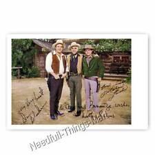 Bonanza mit Dan Blocker, Lorne Greene, Michael Landon - Autogrammfoto 