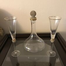 Sparkling Love Double Heart Wedding Champagne Toasting Flutes Hortense B. Hewitt