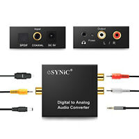 Digital to Analog Audio Converter 3.5mm Jack Optical Right Left Channel HDTV Set