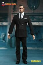 """1:6 Super Duck Male Suit Outfit in Black for 12"""" Action Figures (No Tie)"""