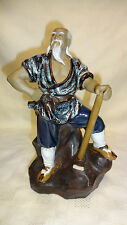 More details for oriental / chinese shiwan mud man figure - wood cutter 24.5cm