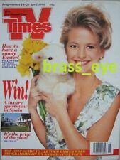 TV Times Ulrika Jonsson Brian Blessed Tim Piggot-Smith