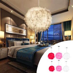 Federn Deckenlampe Hängelampe Pendelleuchte Lichter Schirm LED Lampe Moderne