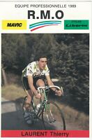 CP PHOTO COUREUR CYCLISTE LAURENT THIERRY EQUIPE RMO MAVIC 1989