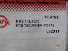 ROT9795 AIR FILTER TECUMSEH T35974  FOAM PRE FILTER MADE IN THE USA