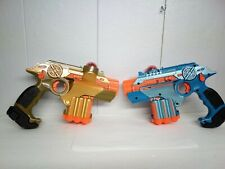Nerf Lazer Tag Phoenix LTX Blaster Pistol hasbro Guns Pair gold blue tested