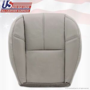 2007 2008 2009 GMC Yukon Driver Side Bottom Leather Upholstery Cover Light Gray