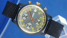 Rare Zeno Hand Wound Chronograph Watch Valjoux 7760 Watch NOS 1980S NEW
