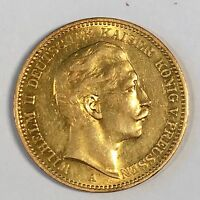 1904-A Germany Prussia 20 Mark Gold Coin - High Quality Scans #C899