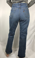 Vintage 70s Levis 646 0217 Jeans 36x30 Orange Tab Bell Bottoms Flares Distressed
