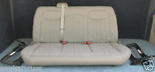 2004-2007 Chevy  Express Van 2nd row bench 3 passenger seat in gray cloth