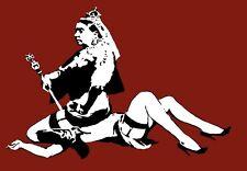 A3 Art Poster -  Queen Vic  -  Banksy Print