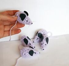 Set of 5  very cute crochet mice. Moth repellent / a little gift idea + free bag