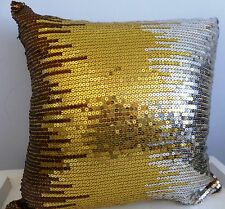 Bronze gold and silver sequins cushion cover 45 x 45