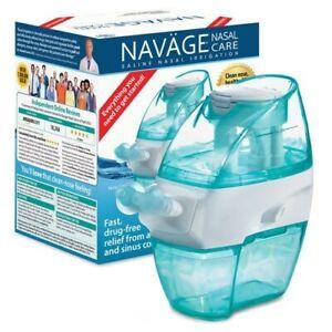 NAVAGE NASAL CARE STARTER BUNDLE w/20 SaltPods (NETI POT) Improved Nasal Hygiene