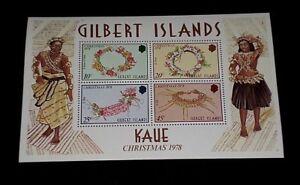 GILBERT ISLANDS #320a, 1978, CHRISTMAS, SOUVENIR SHEET, MNH, NICE LQQK