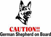 CAUTION ! German Shepherd On Board dog window vinyl decal Stickers Puppy Paw K9