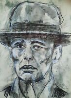 JOSEPH BEUYS  PORTRAIT Turner 2021 Original Stift Brush freihand  21x30cm