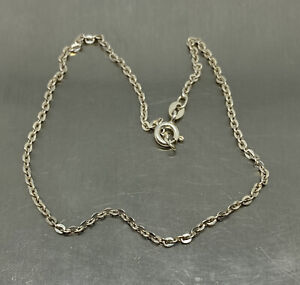 """Anklet 925 Sterling Silver 2 mm  Flat Link Chain 10"""" Italy"""