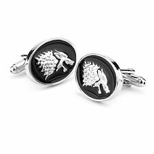 Game of Thrones A Song of Ice and Fire Stark Direwolf Gemelli Lega Borchie uomo