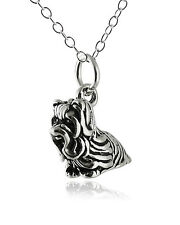 Yorkshire Terrier Dog Necklace - 925 Sterling Silver - 3D Charm Pet Yorkie NEW