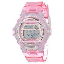Casio Baby-G BG169R-4 Digital Neutral Face Pink Whale Resin Ladies Sport Watch