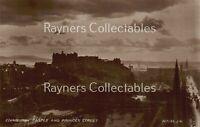 Edinburgh Castle and Princes Street Vintage RP Real Photo Postcard <B1/48