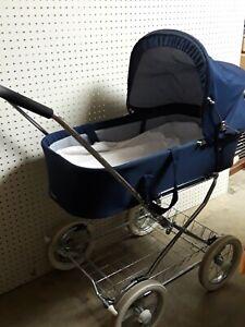Vintage Emmaljunga Carriage Baby Stroller Blue