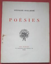 Ex numéroté, Poésies de Mallarmé, Gd volume, Gravures sur Cuivre & Bois de Ouvré