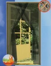 Fliegengitter Insektenschutz Mückengitter für Türen Schwarz 2 x 75 cm x 220 cm